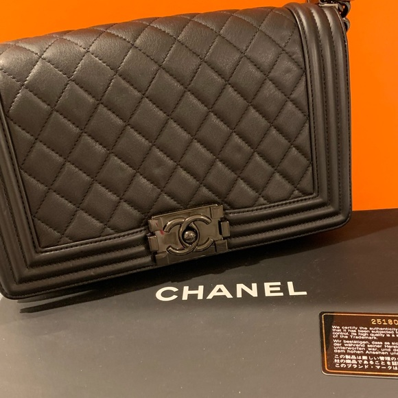 CHANEL Handbags - Chanel boy medium